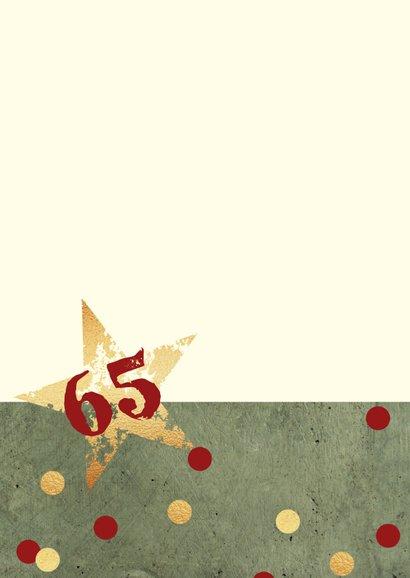 Verjaardagskaart man sterren confetti goud 2