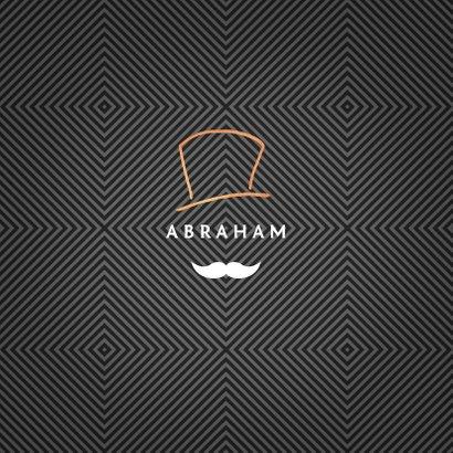 Verjaardagskaart man vijftig 50 abraham snor goud 2