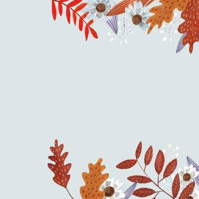 Verjaardagskaart meisje herfstbladeren 2