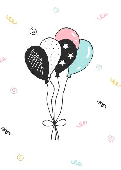 Verjaardagskaart meisje trendy taart 2
