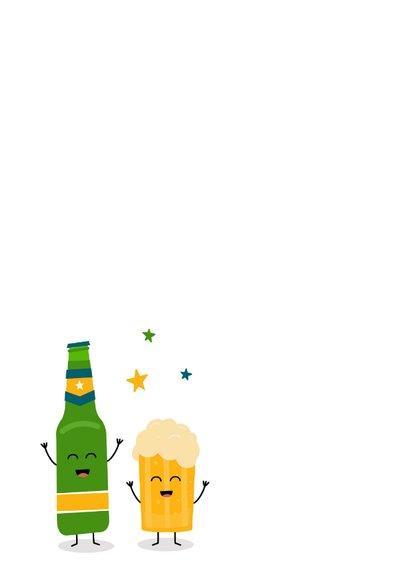 Verjaardagskaart met bier 2