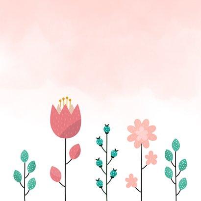Verjaardagskaart met bloemen en waterverf 2