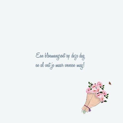 Verjaardagskaart Met bloemen op weg naar jou 3