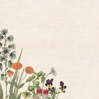 Verjaardagskaart met bloemenkrans 2