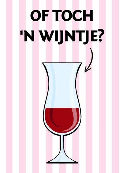Verjaardagskaart met diverse drankjes en binnen wijn 3