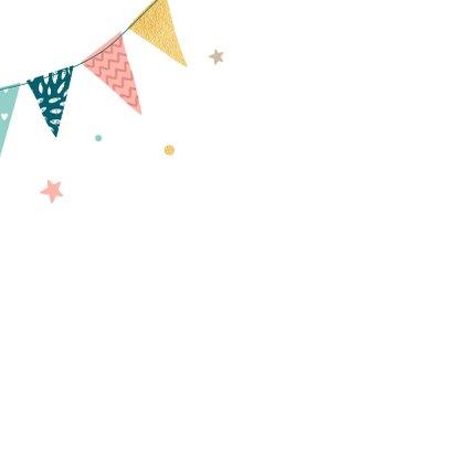 Verjaardagskaart met feestelijke slingers 2