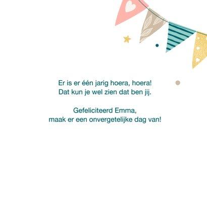 Verjaardagskaart met feestelijke slingers 3