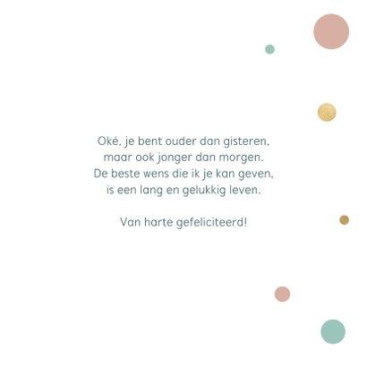 Verjaardagskaart met gouden tekst 3