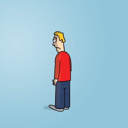 Verjaardagskaart met grappige cartoon 'humoristische noot' 2