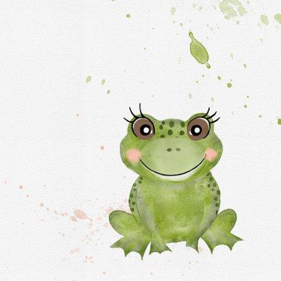 Verjaardagskaart met grote groene kikker 2