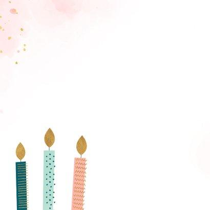 Verjaardagskaart met kaarsen met patroon 2