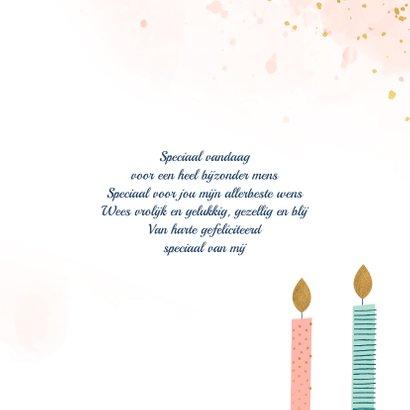Verjaardagskaart met kaarsen met patroon 3