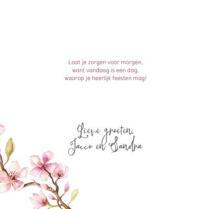 Verjaardagskaart met kersenbloesem en kolibri's 3