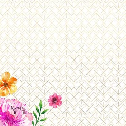 Verjaardagskaart met kleurrijke bloemen 2