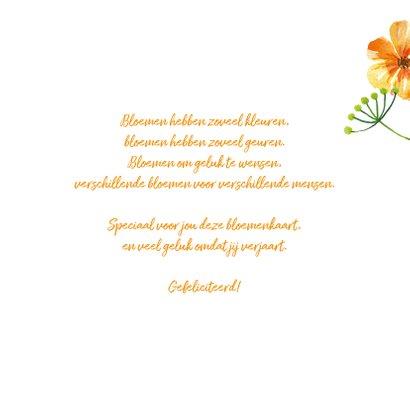 Verjaardagskaart met kleurrijke bloemen 3