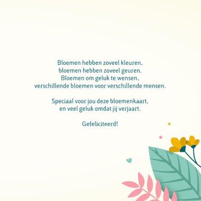 Verjaardagskaart met kleurrijke tekst 3
