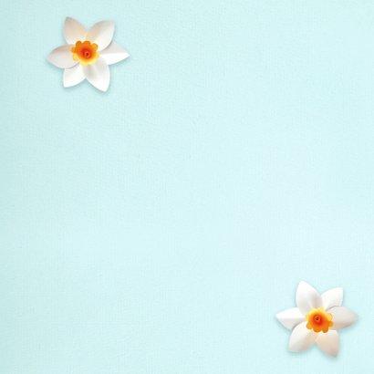 Verjaardagskaart met lentebloemen 2