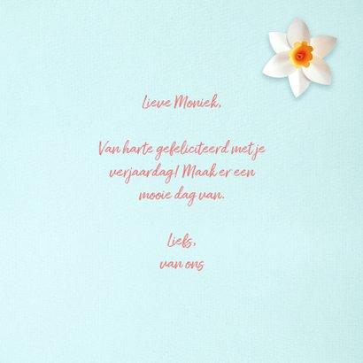 Verjaardagskaart met lentebloemen 3