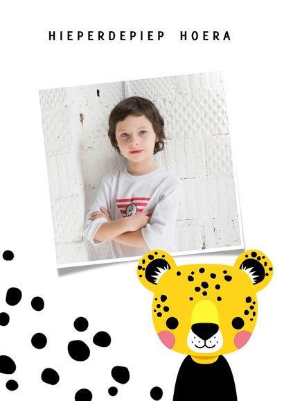 Verjaardagskaart met luipaard en vlekjes 2