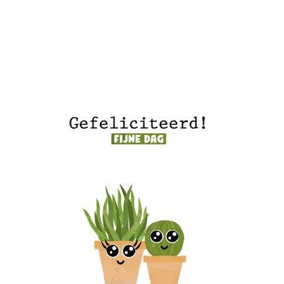 Verjaardagskaart met planten hieper-de-piep hoera! 2