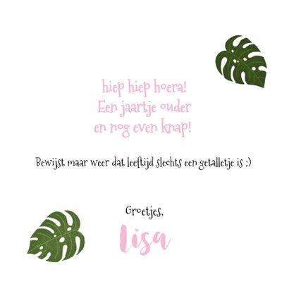 Verjaardagskaart met plantjes voor een vrouw 3
