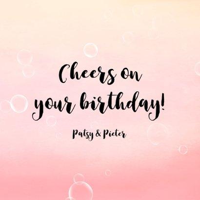Verjaardagskaart met poezen op bellen! Is het champagne!? 3