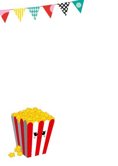 Verjaardagskaart met popcorn 2
