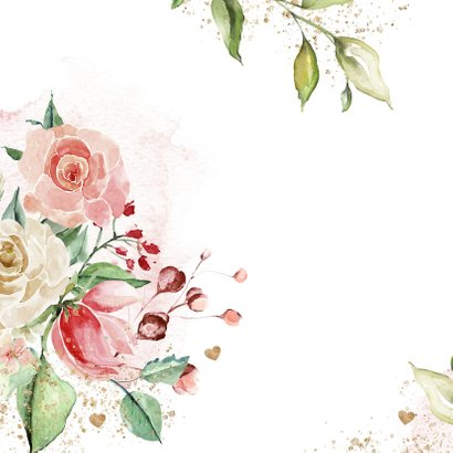 Verjaardagskaart met prachtige bloemen 2
