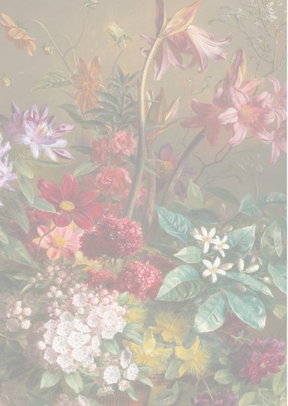 Verjaardagskaart met schilderij van bloemenbos 2