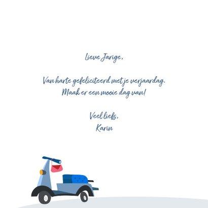 Verjaardagskaart met scooter 3