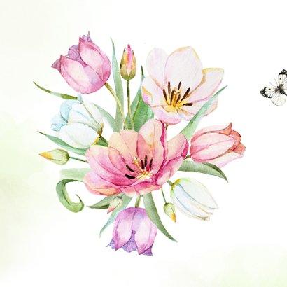 Verjaardagskaart met tulpenboeket 2