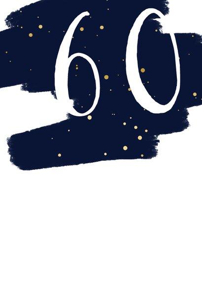 Verjaardagskaart  met verflook en gouden spetters rechthoek 2