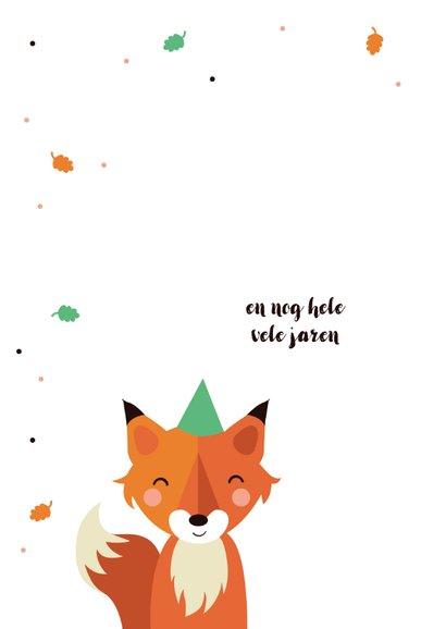 Verjaardagskaart met vosje voor kind 2