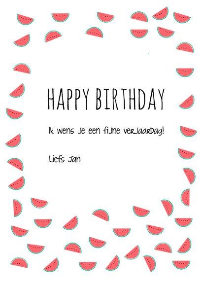 Verjaardagskaart one in a melon 3