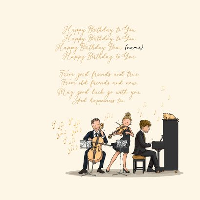 Verjaardagskaart orkest met dirigent 3