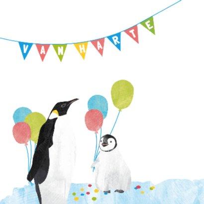 Verjaardagskaart pinguins 2