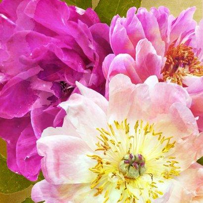 Verjaardagskaart pioenrozen boeket roze 2