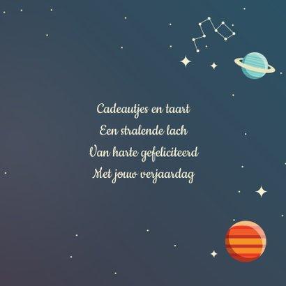 Verjaardagskaart planeten 3