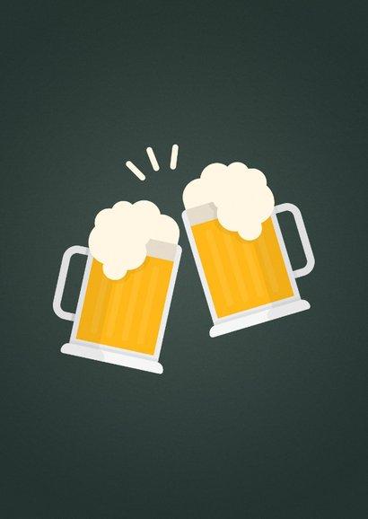 Verjaardagskaart proost op jouw verjaardag met bierglazen 2