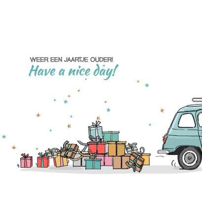 Verjaardagskaart Renault 4 3