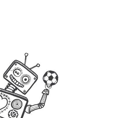 Verjaardagskaart robot krijtbord 2