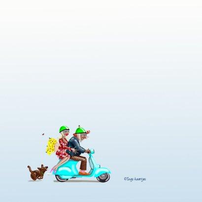 Verjaardagskaart Samen op de scooter 2