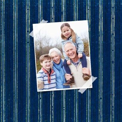 Verjaardagskaart senior kunst 70 blauw patroon 2