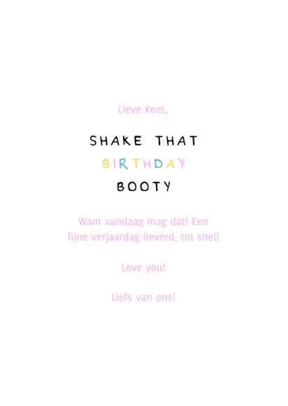 Verjaardagskaart shake that birthday booty 3
