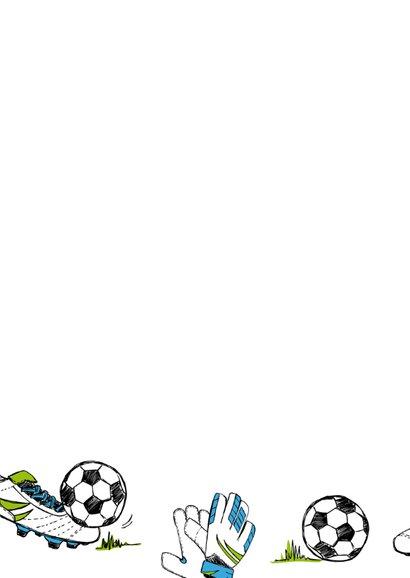 Verjaardagskaart sport voetbal  2