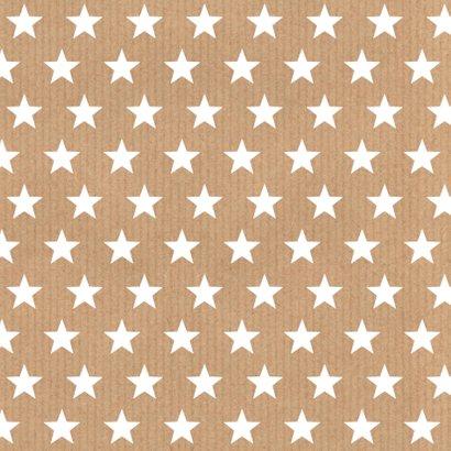 Verjaardagskaart sterren labelprint kraft 2