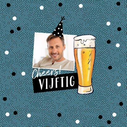 Verjaardagskaart stoer man biertje op afstand 2