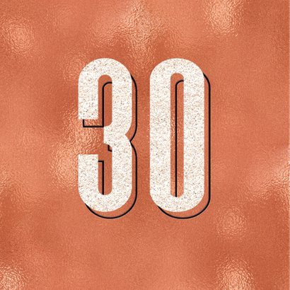 Verjaardagskaart stoer modern 30e verjaardag man vrouw 2