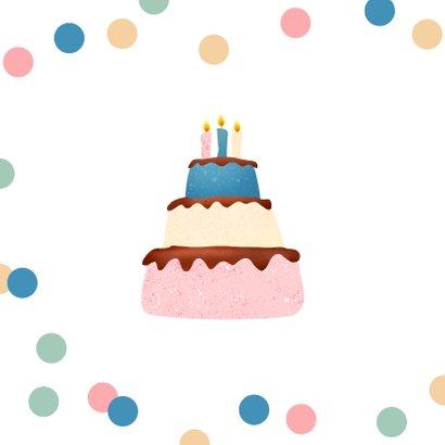 Verjaardagskaart taart confetti corona lockdown party 2