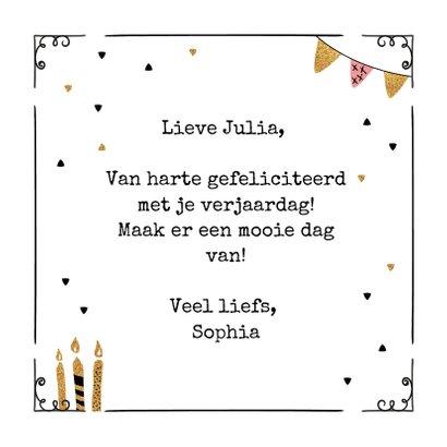 Verjaardagskaart taart & confetti 3